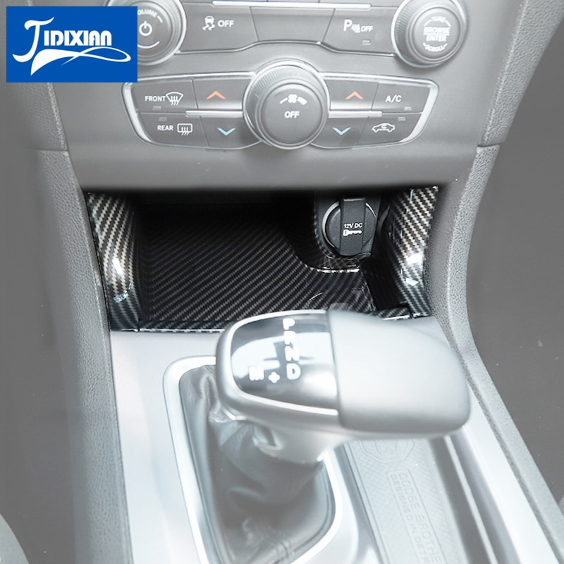 JIDIXIAN Interior Mouldings Car Gear Front Storage Box Decoration Stickers for Dodge Charger 2011+ Accessories enlarge
