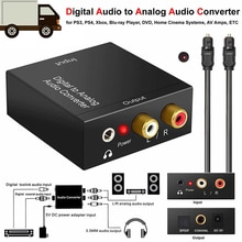 AMPLIFICADOR DE decodificador de Audio Digital, convertidor portátil de fibra óptica Coaxial de 3,5mm, AUX, RCA, L/R, SPDIF