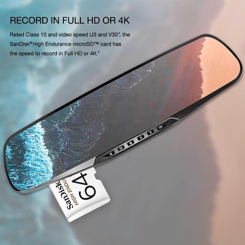 SanDisk Memory Card High Endurance Micro SD Class 10 128GB 64GB 32GB 256GB 4K Video Monitoring Memory Card Micro SD Fast Speed enlarge