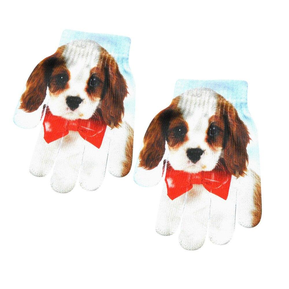 Sagace-guantes de punto con estampado 3d de animales para niños, guantes cómodos...