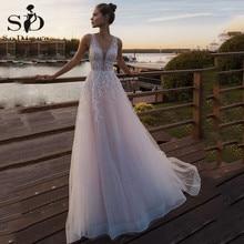 Vestido De Novia de encaje con cuello en V vestido De Novia Vestido de Novia vestido De casamento