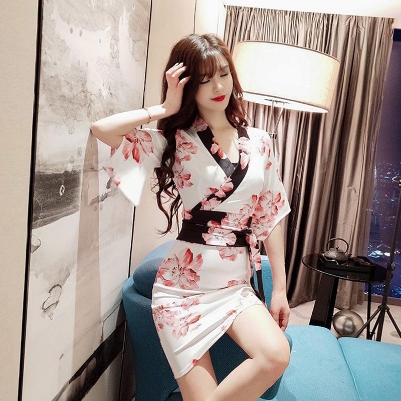 China Printing Sexy Qipao V-neck Hanfu Women Chinese Traditional Cheongsam Dresses Oriental Style Modern Qi Pao Dress Costume