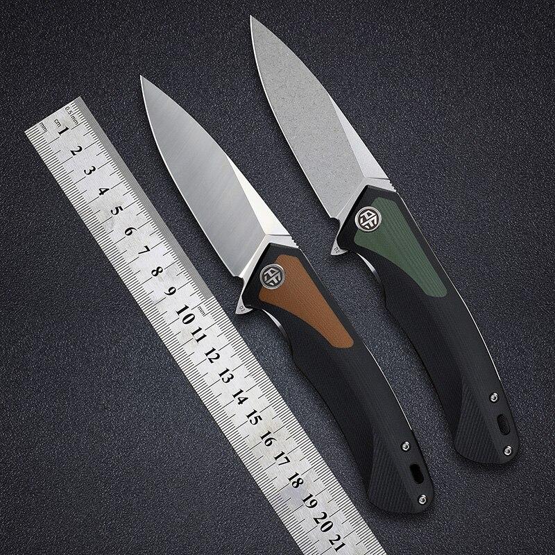 Petrified fish PF838 folding knife D2 steel outdoor camping hunting hiking EDC tool ceramic ball bearing G10 handle Pocket knive