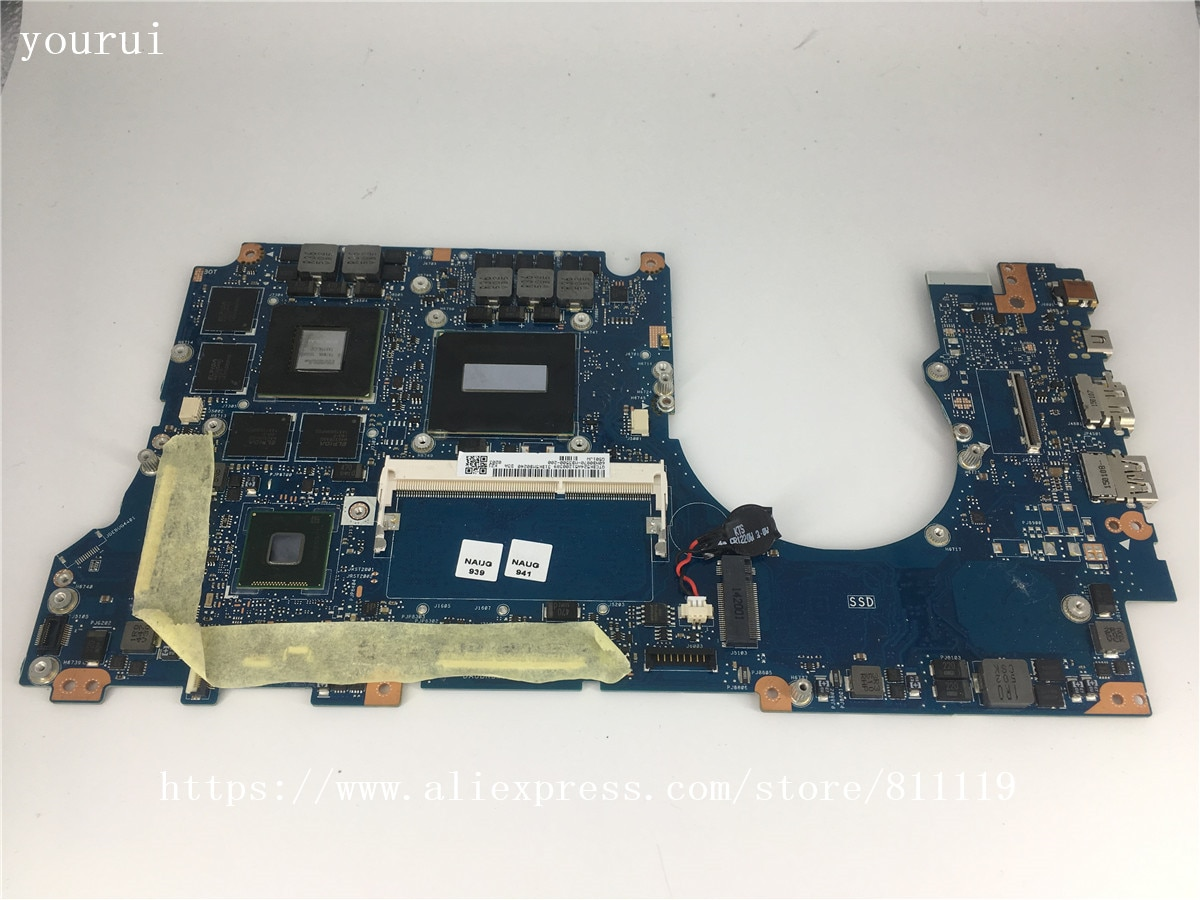 Yourui الأصلي ل ASUS N501JW G501JW REV 2.0 مع i7-4720HQ cpu laptopmotherboard اختبار موافق