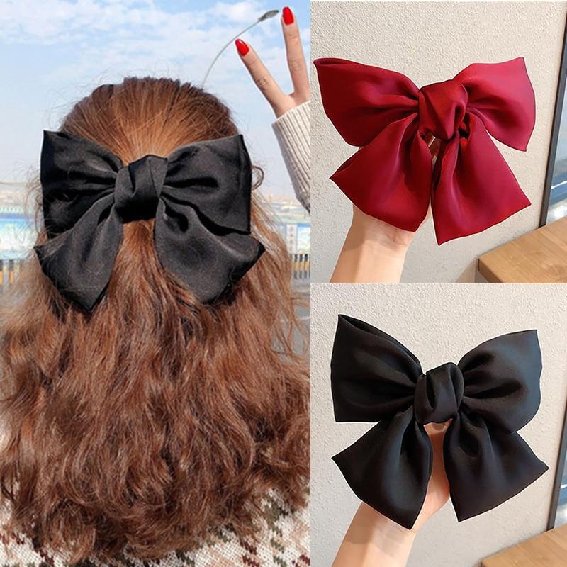2020 New Arrival Big Bows Headband Fabric Elastic Hair Bands Women Girls Hair Accessories Fashion Korean Hair Clip Accessories