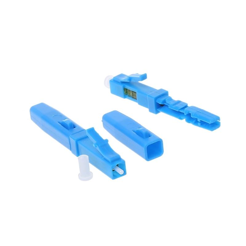 20PCS FTTH LC fast connector LC UPC single mode SM telecom level communication equipment optical fibre field connector enlarge