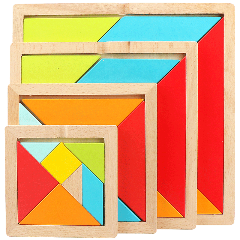 criancas 3d quebra cabeca tangram de madeira jogo de matematica brinquedos inteligencia