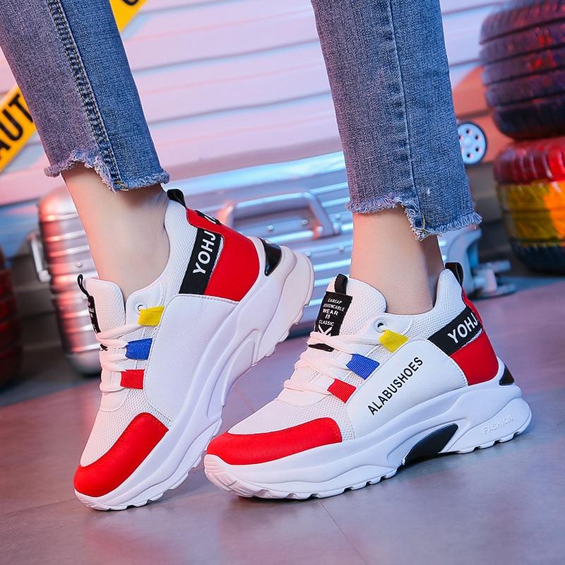 Women's Casual Shoes Spring 2021 New Fashion Sneakers Korean Version Wild Slim Thin White Platform Mujer Zapatos