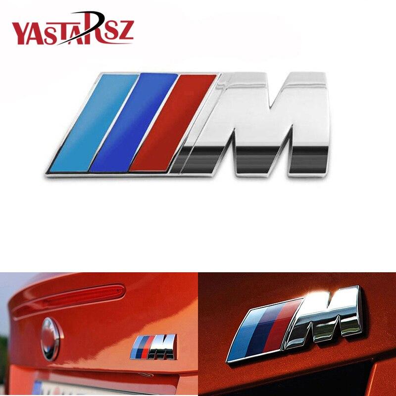 1 Uds ABS emblema de placa de coche etiqueta etiquetado del cuerpo del coche pegatina para BMW X1 X3 X5 e46 BMW e90 e39 e36 f20 e87 e92 e30 e91 estilo de coche