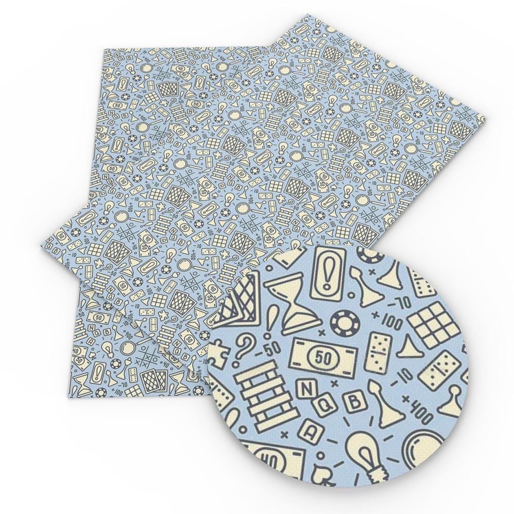 Hoja de Tela de cuero de imitación con estampado de comida para el Día de San Valentín, Tela de cuero textil DIY,1Yc9669 20*34cm