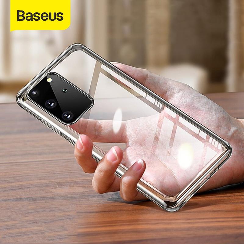 Baseus caso de telefone claro para samsung s20 caso fino tpu macio transparente capa traseira para samsung galaxy s20 plus s20 ultra