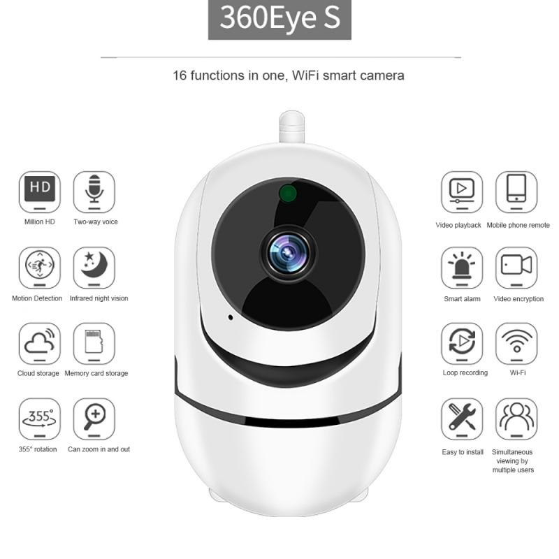 1080p hd casa inteligente sem fio de segurança cctv ir câmera wi fi monitor do bebê câmera ip rastreamento automático câmera visão noturna ir 360 olhos