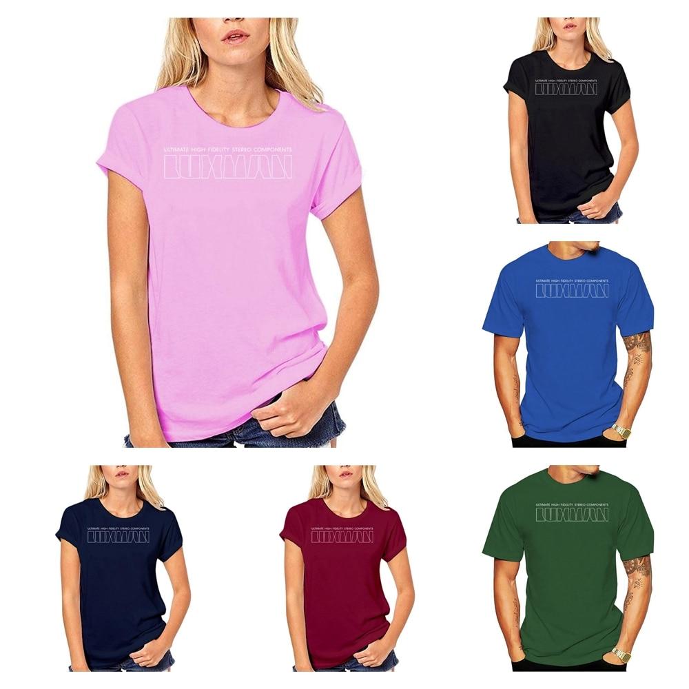Negro camiseta femenina masculina camisa de las mujeres de los hombres de...