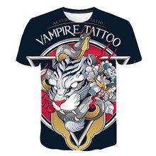Japan Trend tattoo 2019 Neue Mode männer T 3d T Shirt Lustige Print Short Sleeve Top Sommer männer T-shirt streetwear pokemon