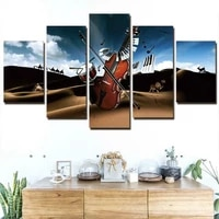 violin music desert 5 piece wall art canvas print hd print posters paintings oil painting living room home decor pictures