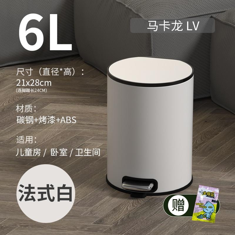 Stainless Steel Trash Can Nordic Large Bedroom Waterproof Round Bathroom Waste Bin Living Room Kosz Na Smieci Home Products 50 enlarge