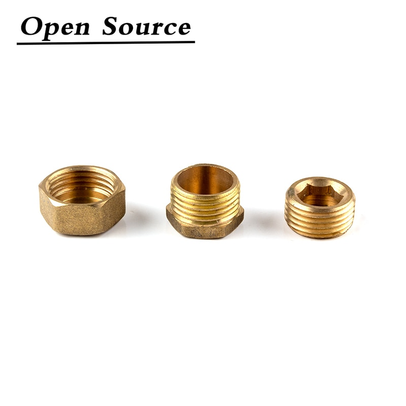 1/8 1/4 3/8 1/2 3/4BSP Female Thread/Male thread Brass Pipe Hex Head End Cap Plug Fitting Coupler Connector Adapter