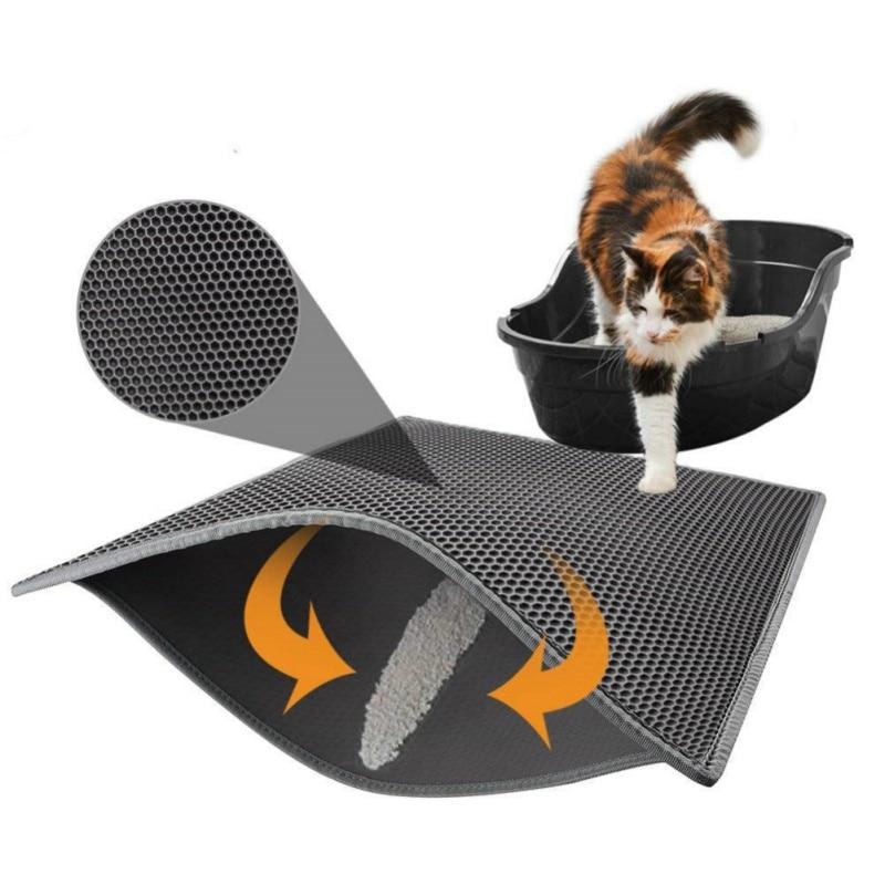 Gato alfombra de cama impermeable EVA doble capa gato captura Pet caja de limpia de productos para gatos Accesorios