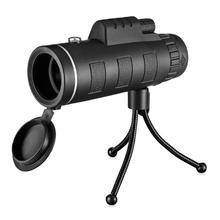 40X60 télescope monoculaire grand Angle HD Vision nocturne prisme portée avec boussole téléphone pince trépied extérieur Portable télescope