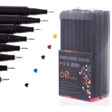 12/24/48/60 di Colore Fineliner Penna Set Professionale Feltro Punta Art Marker Disegno Schizzo Belle Liner penna Set