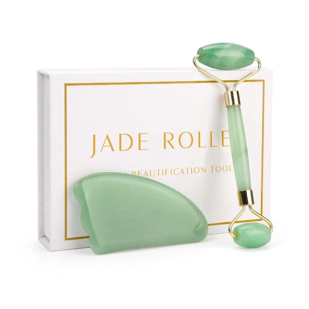 Rouleau de Quartz pour masseur de visage rouleau de Jade Facial Massage de la peau Relaxation de la peau soins de beauté mince visage minceur outils