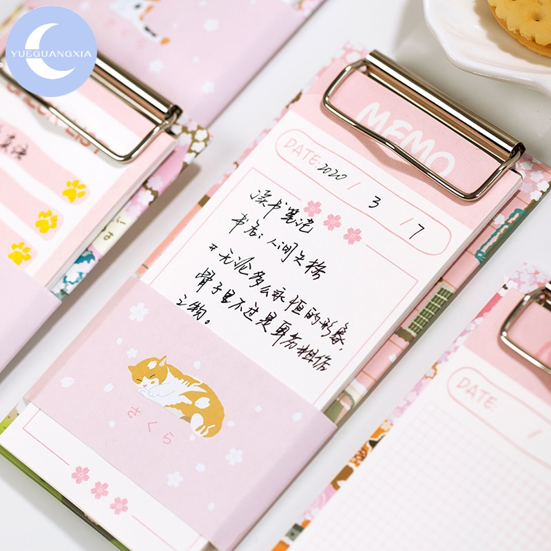 Bloc de notas de hojas sueltas con 4 diseños japoneses de Sakura Girlish para hacer listas, 30 unids/lote