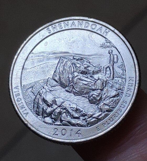 24 milímetros Nação Park, 100% Genuíno Real Comemorativo Da Moeda, Coleção Original