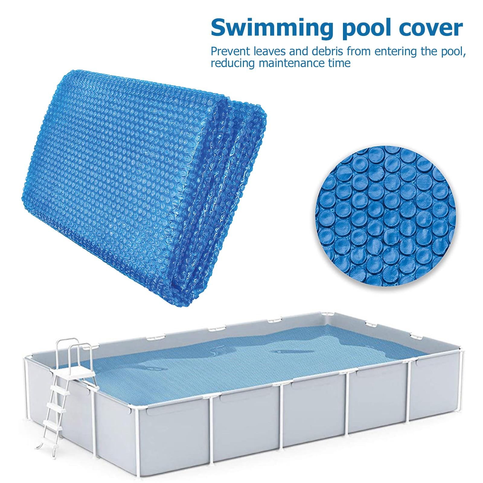 Крышка для бассейна, квадратное солнечное одеяло для бассейна, изоляционная пленка, пыленепроницаемые наружные летние крышки для бассейна