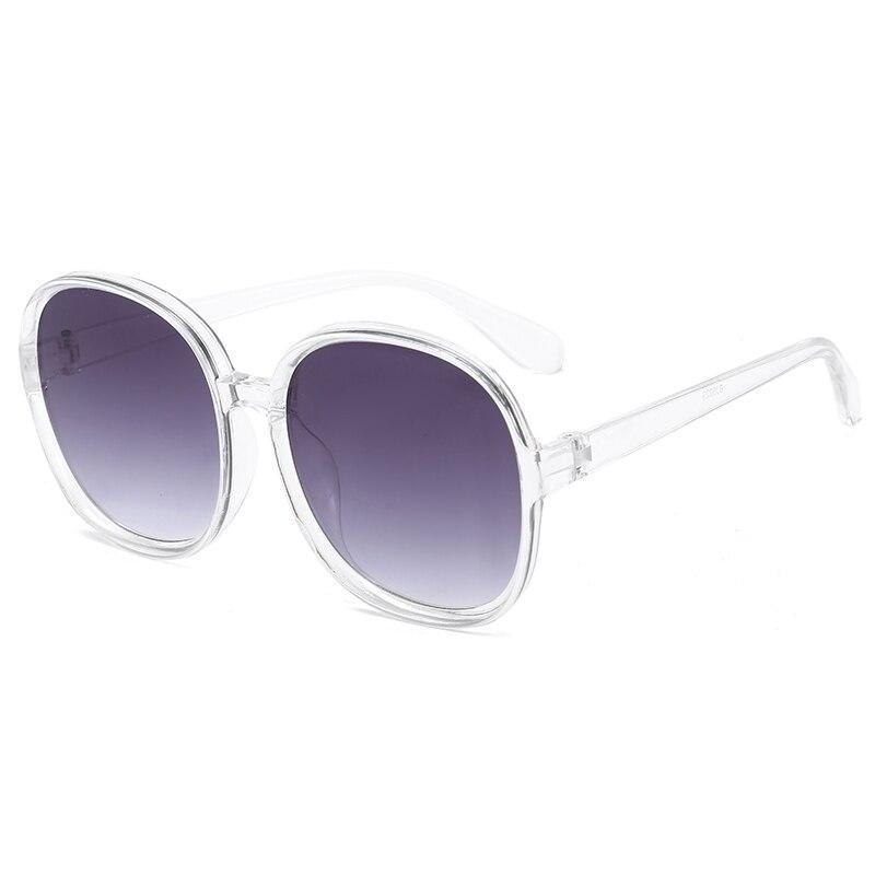 Vintage Oversized Square Sunglasses Women Brand Designer Round Retro Black Frame Men Sun Glasses for