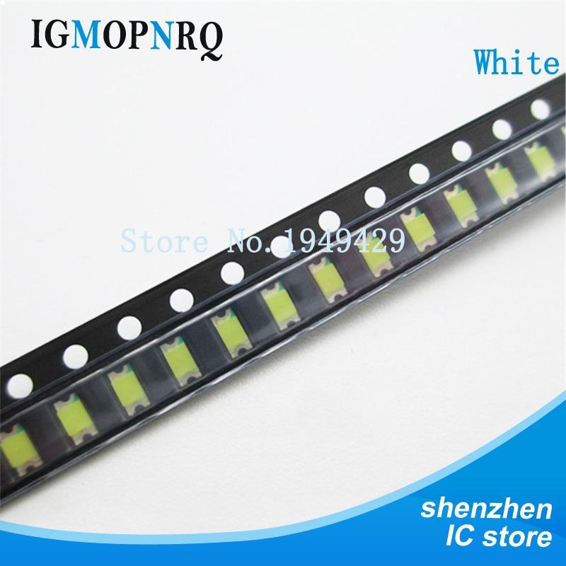 200 pçs/lote 1206 branco smd led diodo luz 3216 smd super 1206 led 3.2*1.6mm cor branca novo