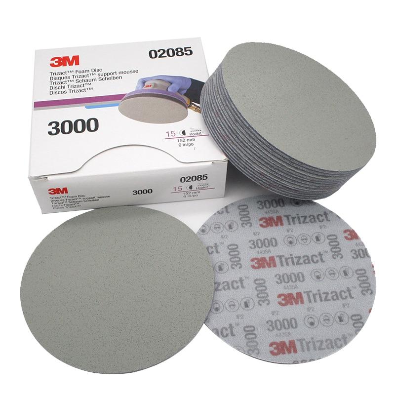15 قطعة (مربع) 3M Trizact الهرم القرص الإسفنج الصنفرة 3000 #-(02085) 5000 #-(30662) الدقة طحن