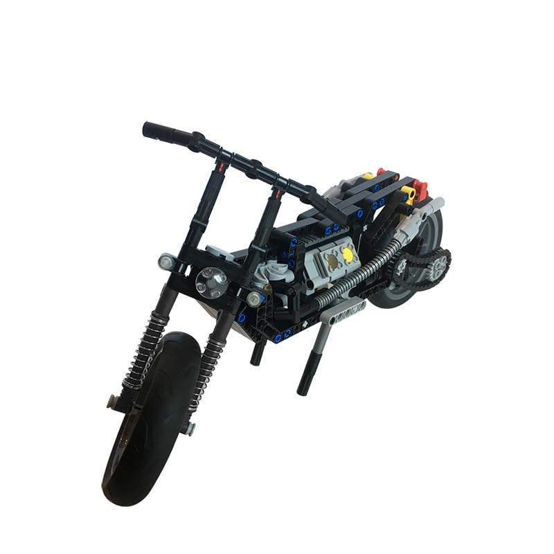 MOC Motorcycle Vehicle Model Building Blocks Speed Racing Motorbike Car DIY Bricks Toys For Kids Boys Collection Gifts недорого
