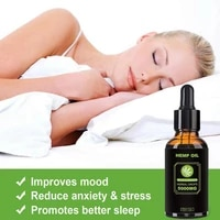 1Pcs Organic Hemp Oil Hemp Seed Oil Extract Oil Anxiety Drop Reduce Essential For Pain Herbal Relief Bio-active