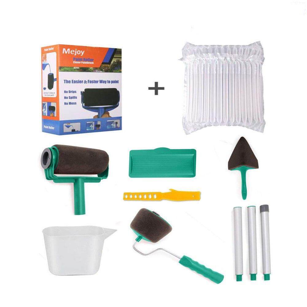Juego de cepillo rodillo de pintura para decorar paredes, Kit de cepillo profesional para pintura de casa multifuncional, juego de herramientas para corredor