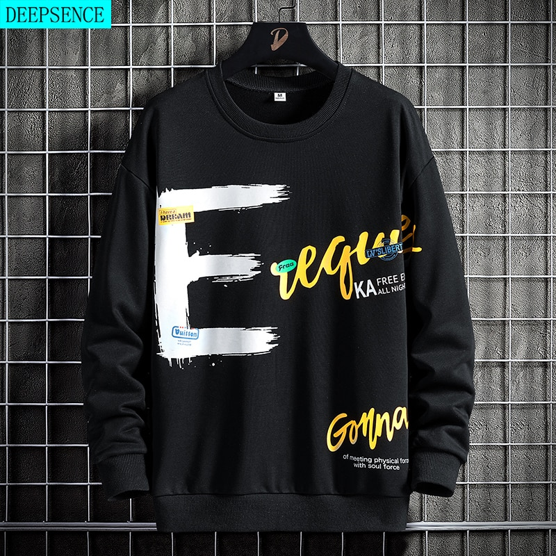 New Product Printed Sweater Men Spring and Autumn Long-Sleeved Bottoming Shirt Loose Tide Brand Shir
