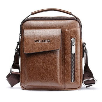 Sac à bandoulière en cuir PU pour hommes, sac à main Vintage de bonne qualité, sac à main de capacité, sacoche fourre-tout, décontracté