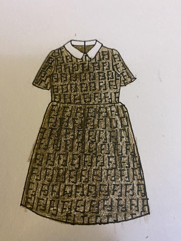 2021 الربيع و الصيف الأطفال الجديد تنورة الفتاة الأوروبية والأمريكية زهرة كلاسيكية نمط دمية طوق فستان قصير الأكمام