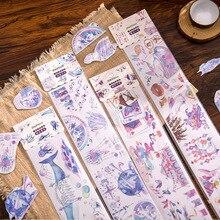 2020 Kawaii Unicorn Washi Tape Vintage Ticket DIY Decorative Scrapbooking Masking Tape Adhesive Washi Tape Set Label Sticker