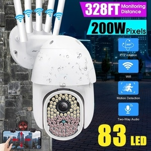 Outdoor 81LED FHD 1080P PTZ Dome Wifi IP Camera Wireless CCTV Two Way Audio Video Security Night Vision Full Color Camera Cam