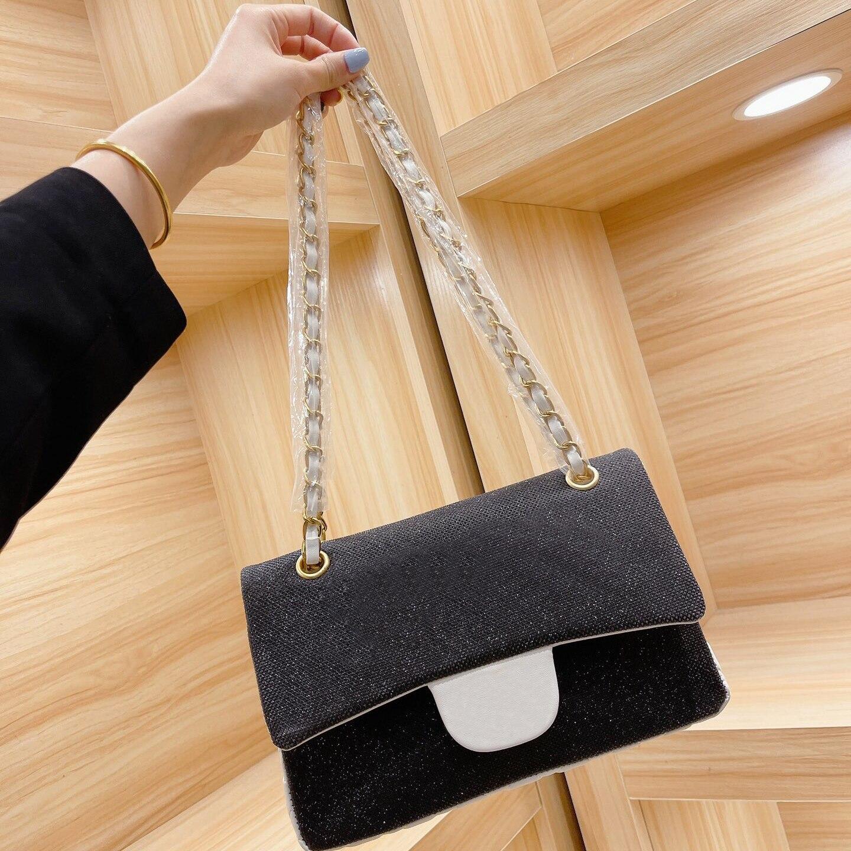مع شعار موضة البساطة حقائب للنساء الترتر صندوق مربع حقائب كتف صغير crossbody حزمة متعددة الوظائف