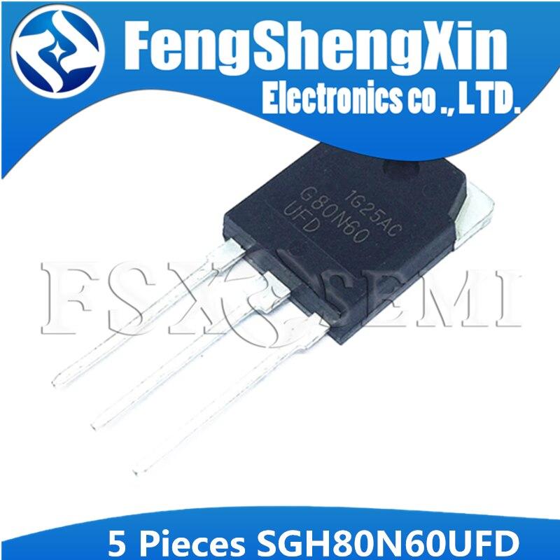 5 unids/lote SGH80N60UFD G80N60 80N60 G80N60UFD TO-3P ultrarápido IGBT