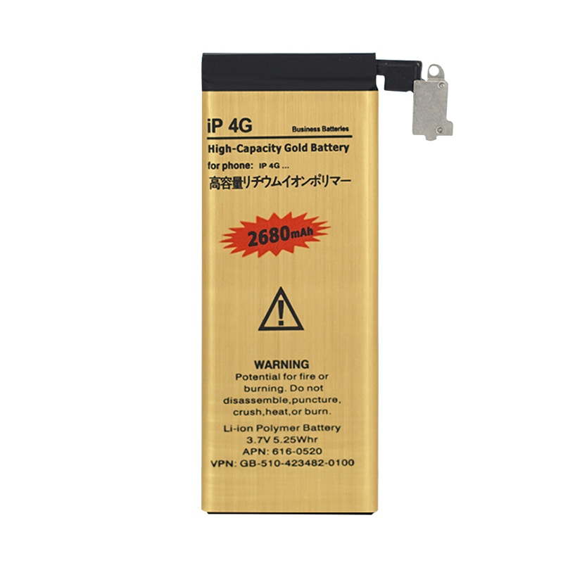 OHD New 0 cycle Replacment Battery for Apple iPhone 4 4g Internal Batteries Accumulator for Smart Phone with tools as gift enlarge