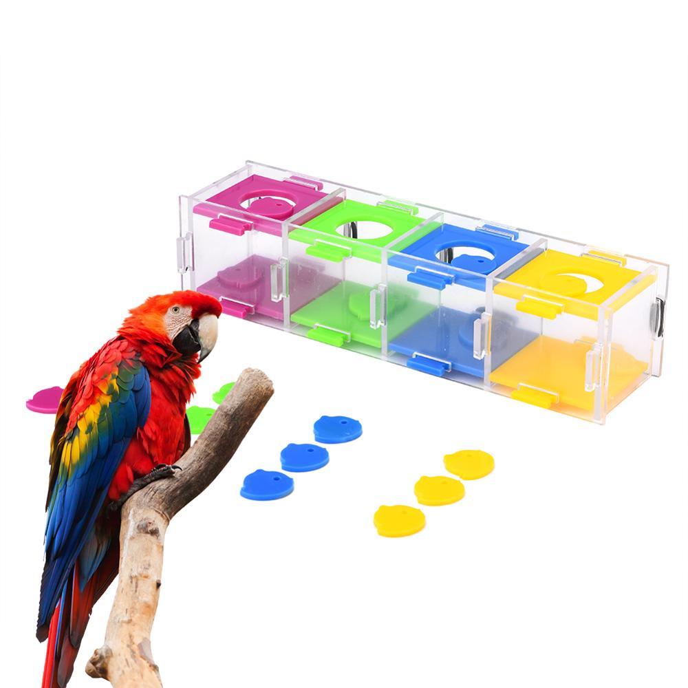 Juguetes Para loros y mascotas, puzle de juguete para jugar con aves para Cockatiel, suministros educativos de entrenamiento de inteligencia
