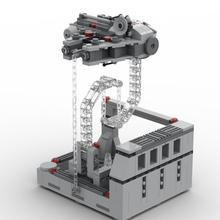 Star Wars X-wing Millennium Creator Falcon Tensegrity Sculptures Anti Gravity Dynamic Physics Balance Building Blocks Bricks