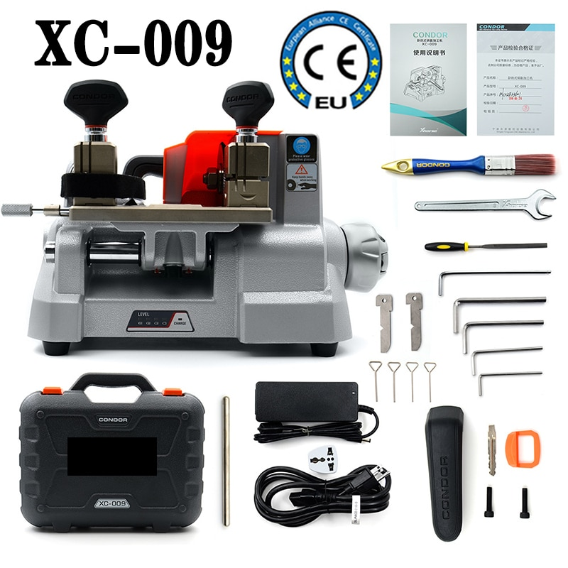 Manual key cutter Key cutting machine Milling cutter with built-in battery for most bikes, cars & door locks keys XC-009
