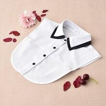 stylish blouse detachable lace collar fake turtle neck shirt false white  ladies collars half shirt