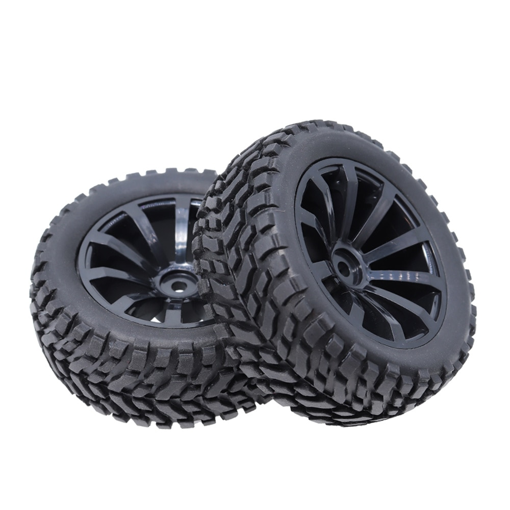 1/10 2PCS RC Tires Wheel Hub Rim Hex 12mm For 1:10 HSP HPI Axial SCX10 Traxxas Trx-4 Trx4 Tamiya HPI RC Rally On Road RC Car Tyr