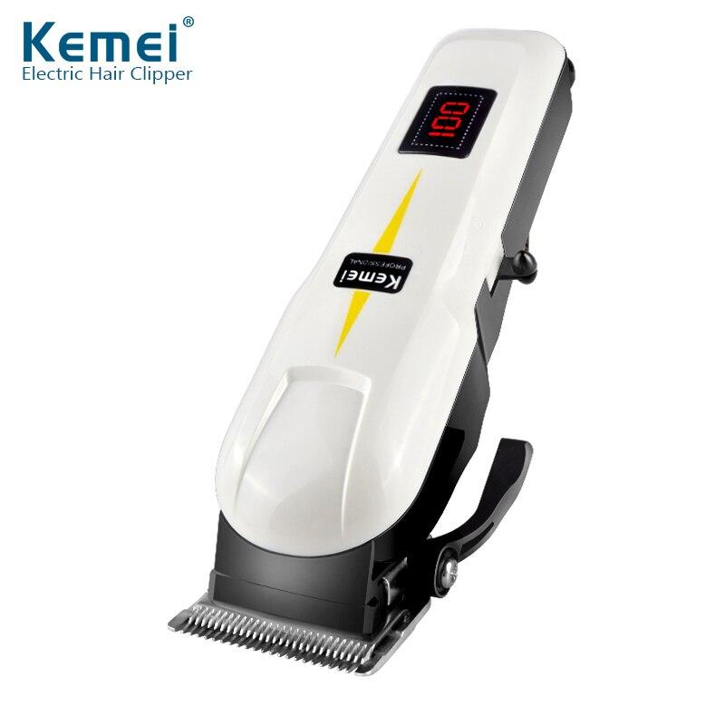 Kemei KM-809A صالون الشعر المنزلية شاشة الكريستال السائل مقص الشعر الحد من الضوضاء الكهربائية ضبط غرامة الكهربائية