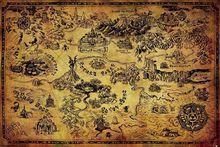 Legenda o Zelda Hyrule mapa plakat jedwabny plakat dekoracyjny 24X36Inch