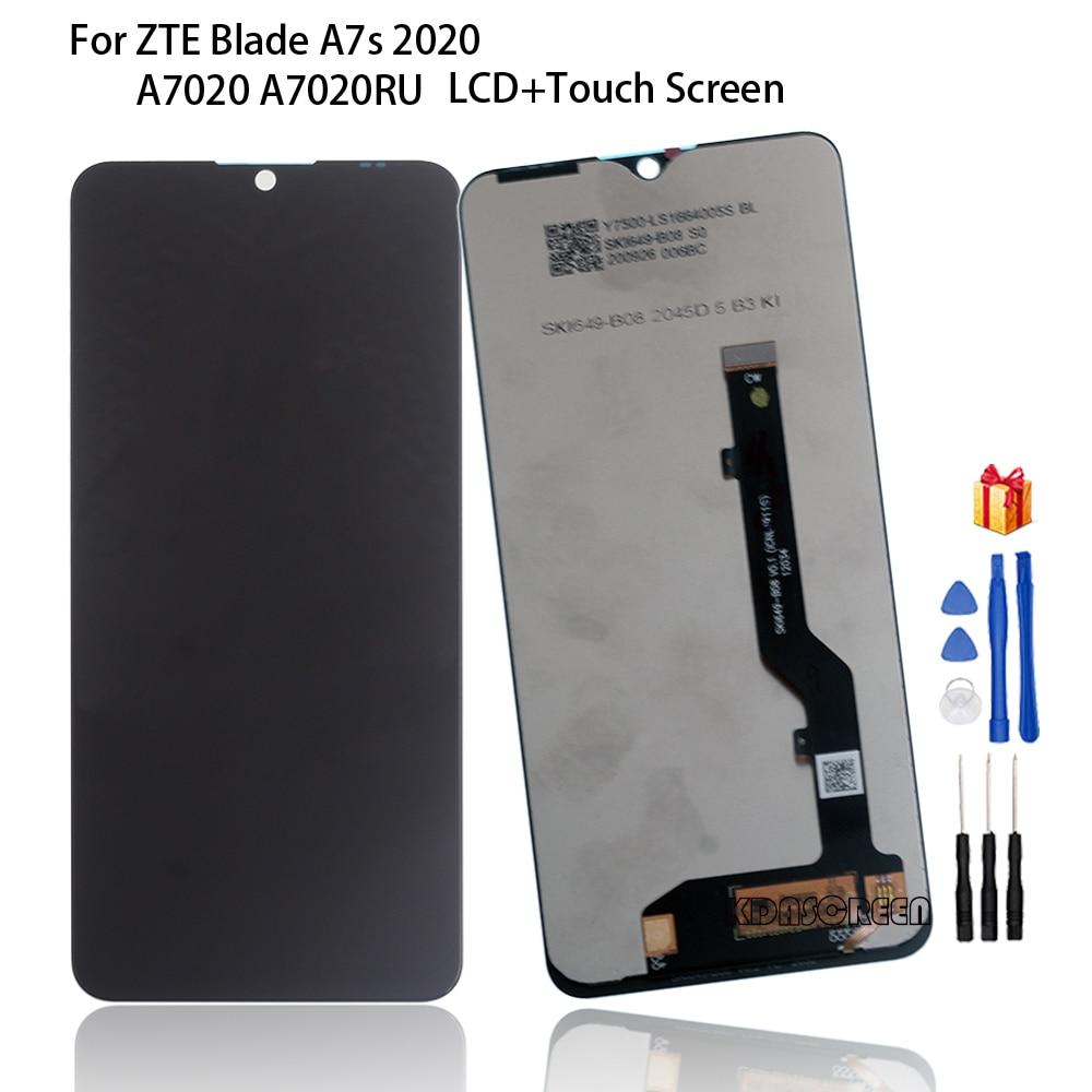 الأصلي LCD ل ZTE بليد A7s 2020 A7020 A7020RU شاشة الكريستال السائل مجموعة المحولات الرقمية لشاشة تعمل بلمس ل ZTE Blade A7s 2020 شاشة LCD